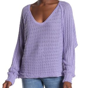 We The Free Light Purple Thiens Hacci Top